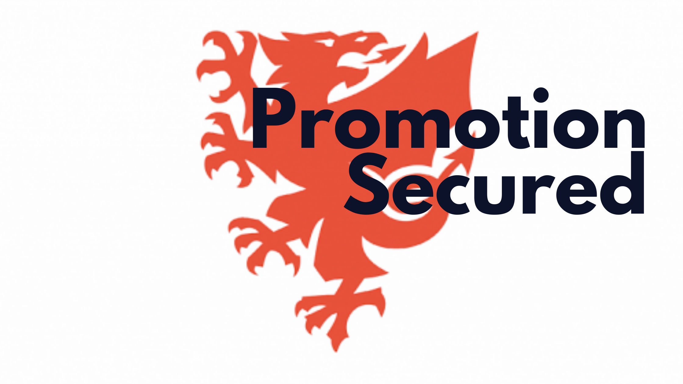 Pomotion secured text on logo of FAW